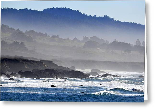 Misty Coast Greeting Card