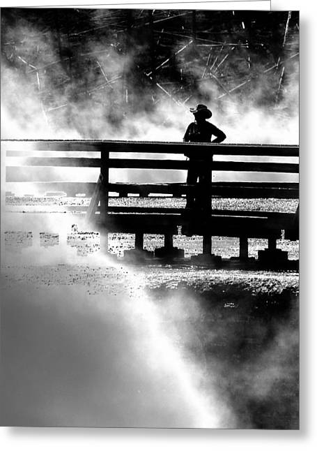 Misty Cowgirl Greeting Card
