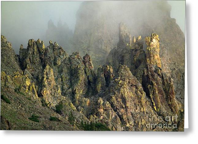 Misty Crags Greeting Card