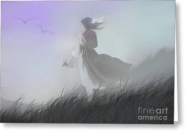 Misty Encounter Greeting Card by Robert Foster