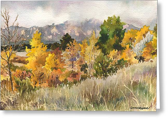 Misty Fall Day Greeting Card