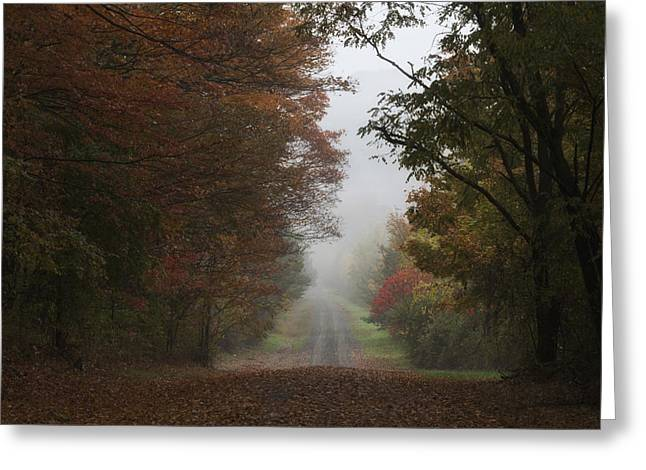 Misty Fall Morning Greeting Card