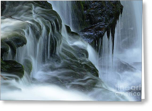 Misty Falls - 70 Greeting Card by Paul W Faust -  Impressions of Light