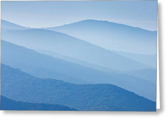 Misty Blue Hills Greeting Card by Rod McLean