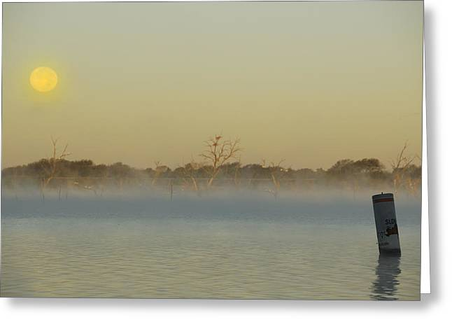 Misty Lake Greeting Card
