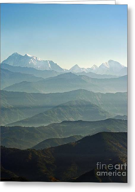 Greeting Card featuring the photograph Misty Layers by Jacqi Elmslie