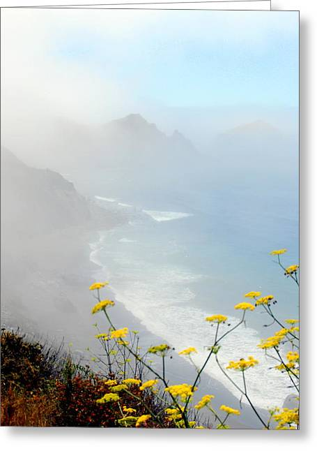 Misty Greeting Card by Mamie Gunning