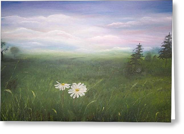 Misty Meadow Greeting Card