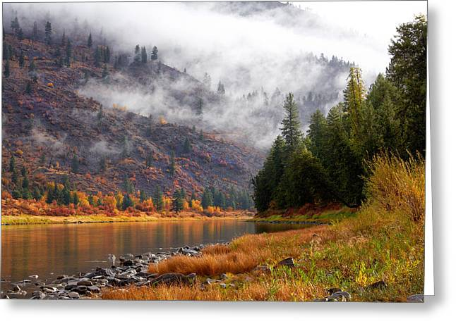 Misty Montana Morning Greeting Card