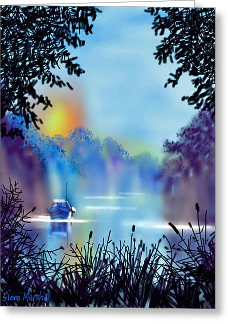 Misty Mooring Greeting Card
