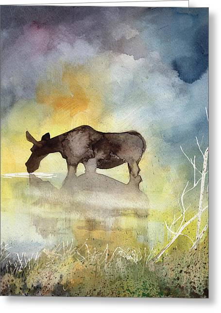 Misty Moose Minerva Greeting Card
