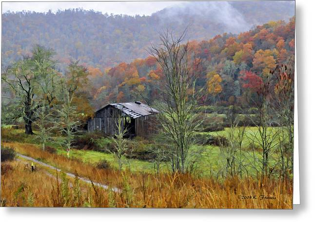 Misty Morn Greeting Card by Kenny Francis