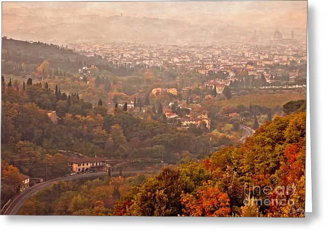 Misty Morn O'er Florence Greeting Card