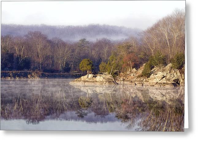 Misty Morning At Widewater Greeting Card