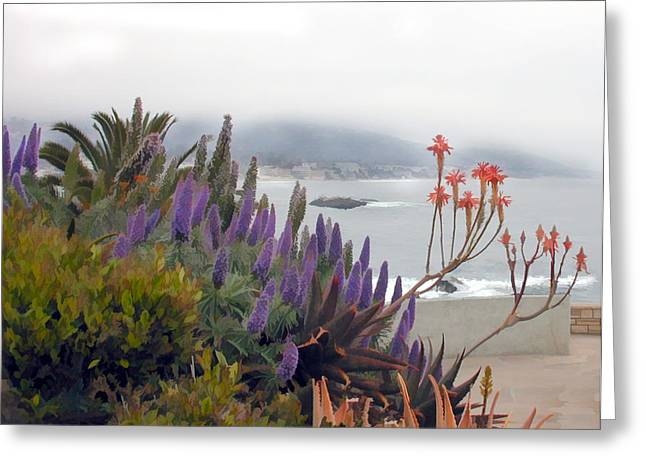 Misty Morning In Laguna Greeting Card by Elaine Plesser