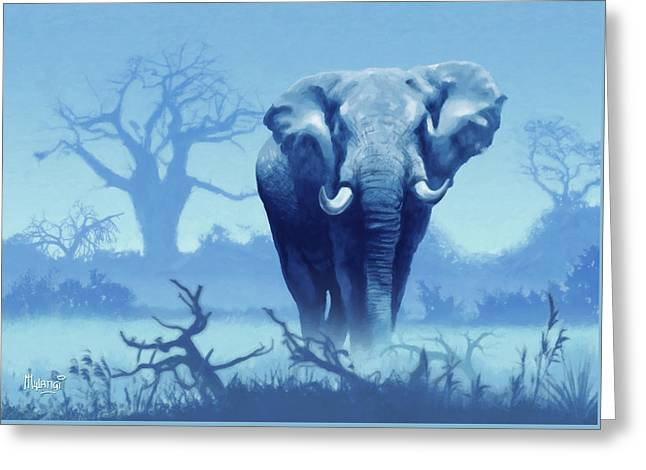 Misty Morning In The Tsavo Greeting Card