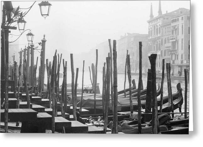 Misty Morning In Venice Greeting Card by Dorothy Berry-Lound