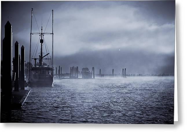 Misty Morning Greeting Card by Michael Connor