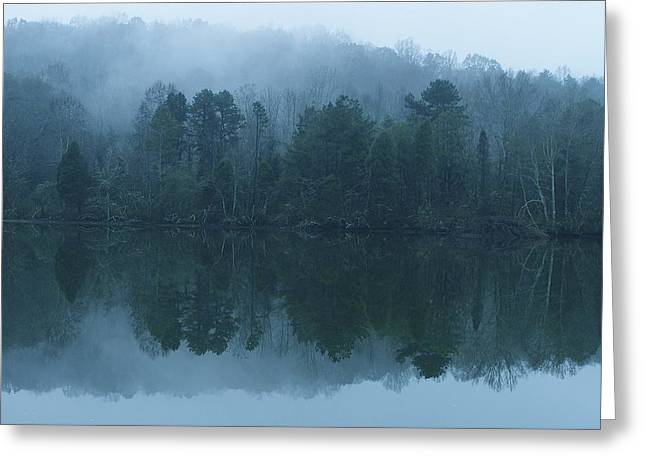 Misty Morning On The Clinch River Greeting Card