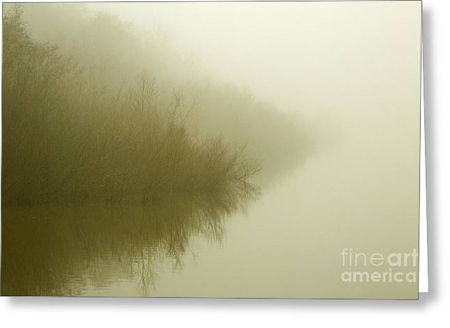 Misty Morning Reflection. Greeting Card