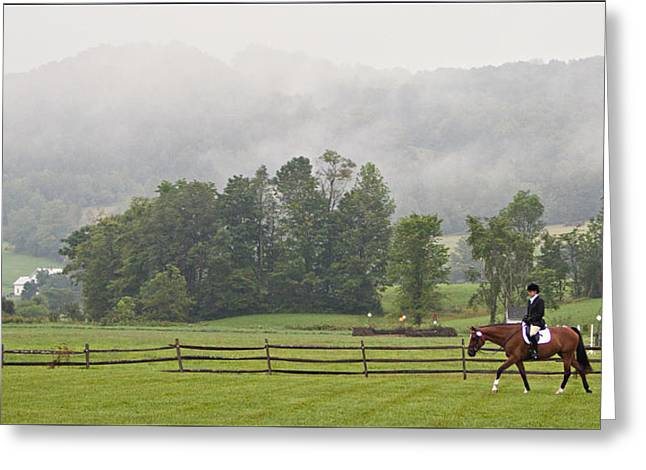 Misty Morning Ride Greeting Card