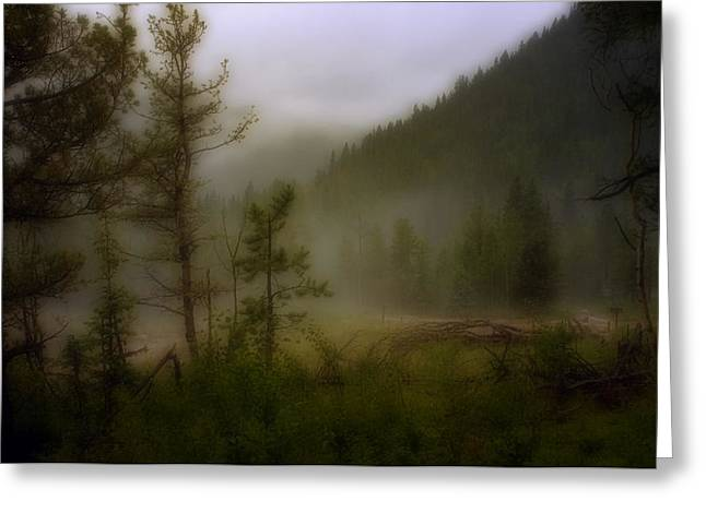 Greeting Card featuring the photograph Misty Mountain by Ellen Heaverlo