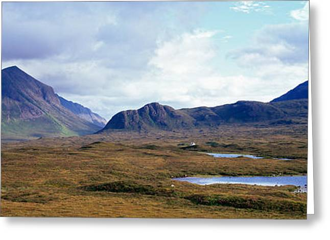 Misty Mountain Landscape, Glen Greeting Card by Panoramic Images