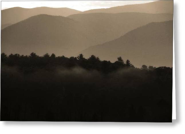 Misty Mountain Morning In Tennessee Greeting Card by Dan Sproul