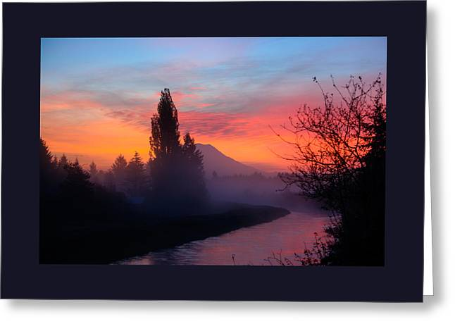 Misty Mountain Morning Greeting Card