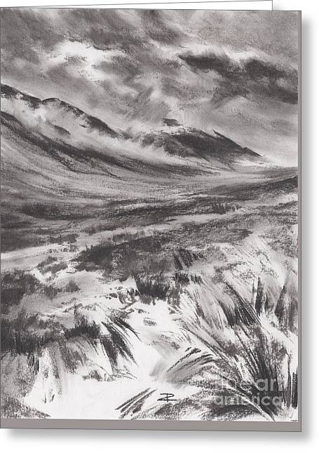 Misty Mountains Greeting Card
