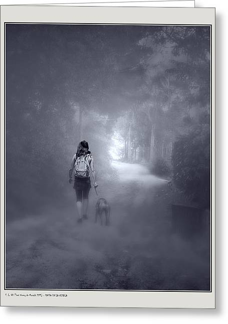 Misty Path Greeting Card by Pedro L Gili