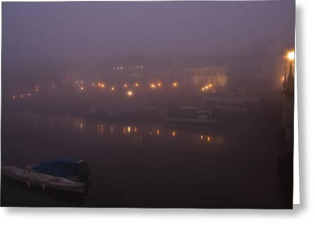 Misty Richmond Upon Thames Greeting Card by Maj Seda