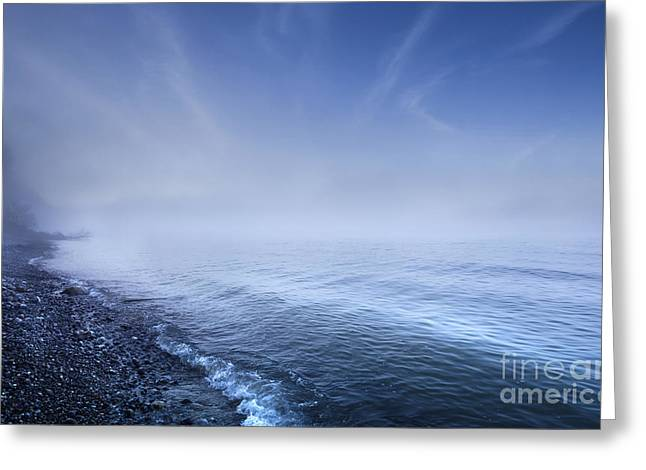 Misty Seaside In The Evening, Mons Greeting Card by Evgeny Kuklev