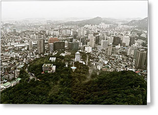Misty Seoul Greeting Card