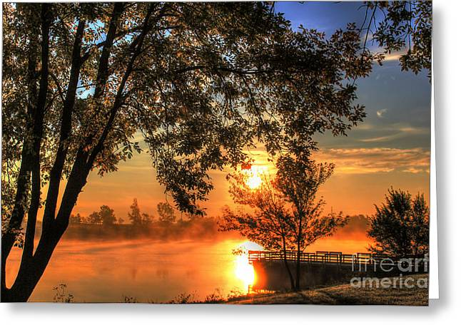 Misty Sunrise Greeting Card by Thomas Danilovich
