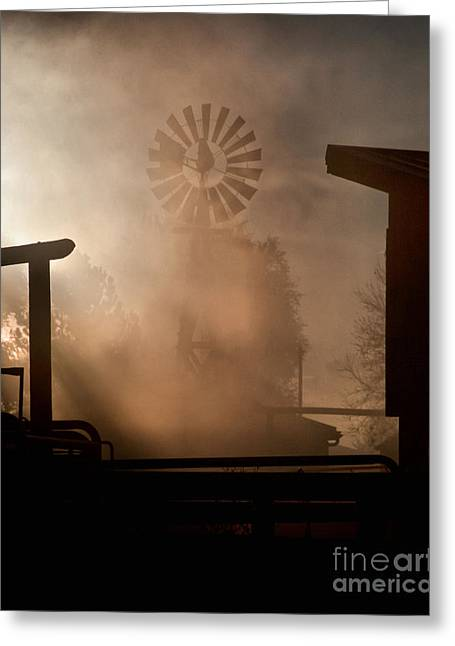 Greeting Card featuring the photograph Misty Windmill by Steven Reed