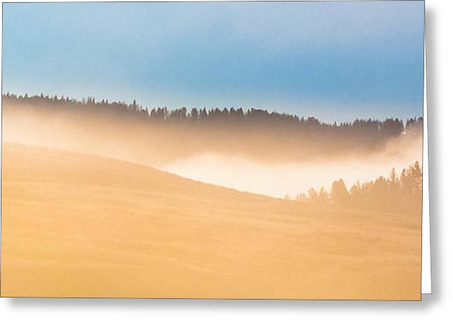 Misty Yellowstone   Greeting Card
