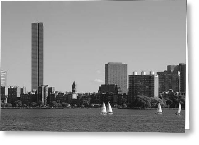 Mit Sailboats, Charles River, Boston Greeting Card by Panoramic Images