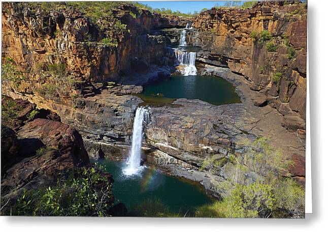 Mitchell Falls Mitchell Plateau Greeting Card by Martin Willis