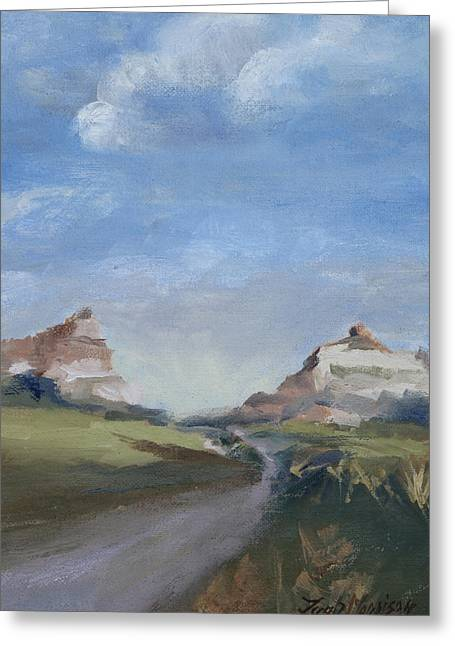 Mitchell Pass In Portrait Greeting Card by Leigh Morrison
