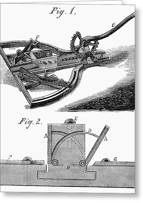 Mitering Tool, 1867 Greeting Card by Granger