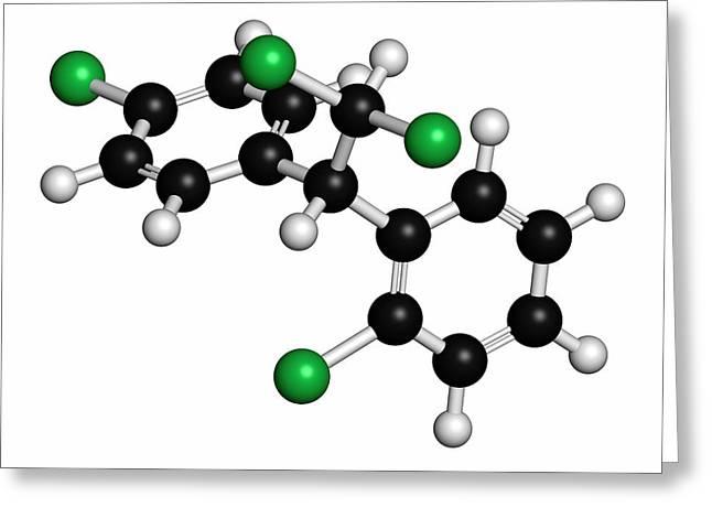 Mitotane Cancer Drug Molecule Greeting Card by Molekuul