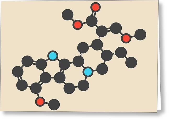 Mitragynine Molecule Greeting Card by Molekuul/science Photo Library