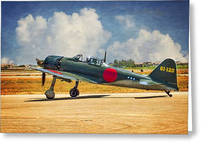 Mitsubishi Zero Fighter Greeting Card by Steve Benefiel