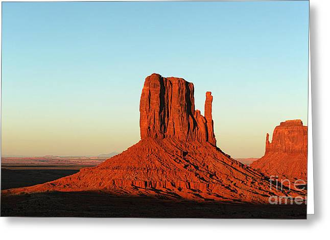 Mitten Buttes At Sunset Greeting Card by Jane Rix