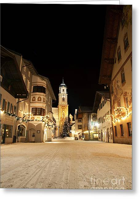 Mittenwald In Winter Greeting Card