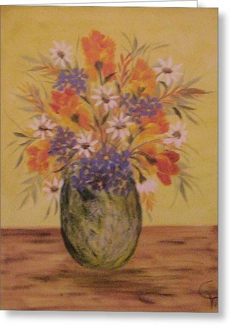 Mixed Bouquet Greeting Card by Carolyn Wear