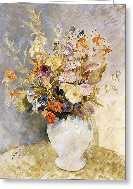 Mixed Flowers Greeting Card by Glyn Warren Philpot