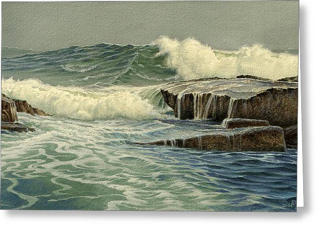 Mixed Media Seascape Greeting Card by Paul Krapf