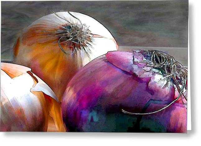 Mixed Onions Greeting Card by Elaine Plesser